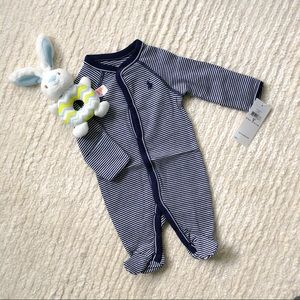 NWT Ralph Lauren infant striped cotton coverall